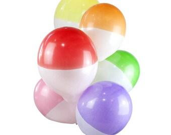 Rainbow Dipped Balloon Set - Birthday Balloons/ Hen do Balloons/ Unicorn Party/ 1st Birthday/ Stylish Balloons/ 21st Birthday/ 30th Birthday