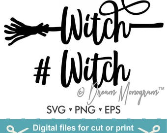 Halloween Svg / Witch Svg / # Witch Svg / Cut Files - Svg DXF Silhouette Studio Cricut