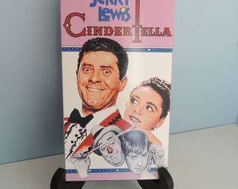Cinderfella VHS Tape, Jerry Lewis, Funny Movie, Humorous Movie, Classic Comedy, Classic VHS Comedy Movie