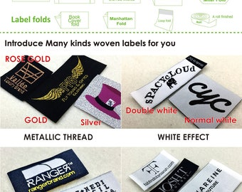 100 pcs Custom woven label, fabric cloth labels, customized woven labels for clothing, custom design label, label sew on, customized labels