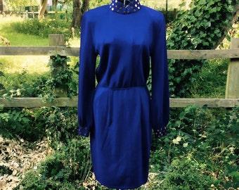 Vintage St John by Marie Gray wool dress size 6