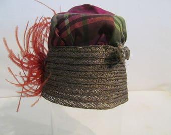 Cloche hat salesman sample miniature