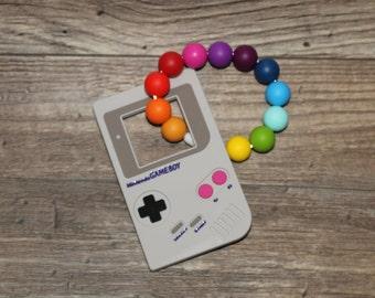 Silicone Teething Toy | Nintendo | Modern | Perfect Gift | Handmade in Canada | Gameboy | Teething | Baby | Kenton Creations | Textured
