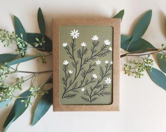 Folk Flowers Card Set