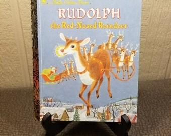 Rudolph The Red Nosed Reindeer Little Golden Book 1970's Vintage Children's Book