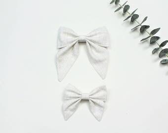 Sailor Bow, Cream Sailor Bow, Large Sailor Bow, Small Sailor Bow, Sailor Bow Headband, Sailor Bow Hair Clip
