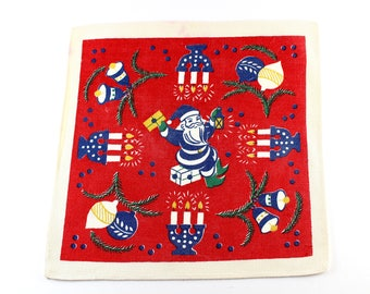 2 Danish vintage Christmas tablecloth from the 1950.