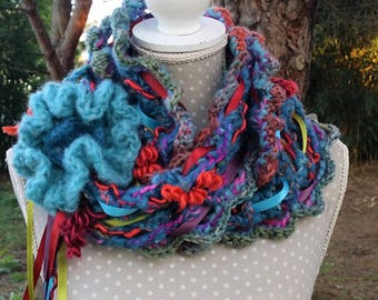 Winter scarf women wool scarf scarf warm multicolored designer scarf