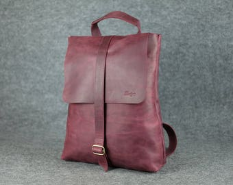Women's universal backpack-bag/ Leather backpack, Women leather rucksack, Women leather backpack, Leather purse, City-Style Leather Backpack