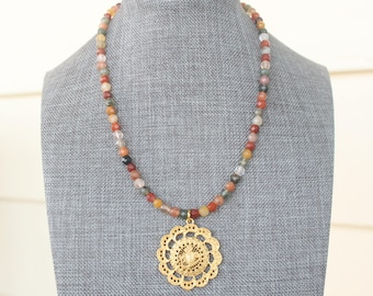 Rutilated Quartz Faceted Beaded Necklace