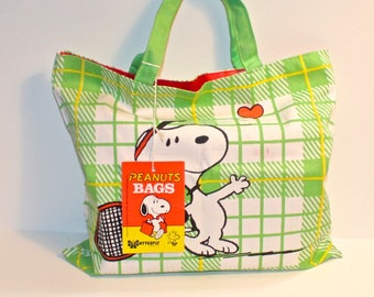 Peanuts Characters Snoopy and Woodstock Cloth Tote Bag