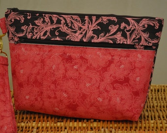 Large clutch (Chocolate and pink elegance)