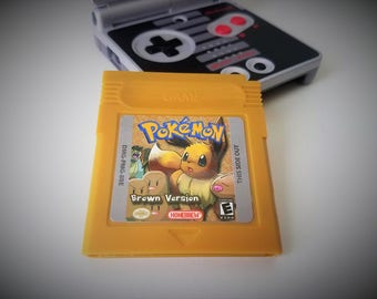 Pokemon Brown Version Nintendo Game Boy (GBC GBA) -(English Fan Hack) Gameboy