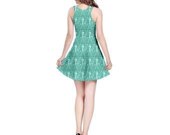 Pearl Dress - Steven Universe Dress Skater Dress Cosplay Dress Oddity Apparel Crystal Gems Dress Pearl Silhouette Dress Beach City Dress