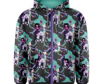 Alexandrite Hoodie - Xip-Up Hoodie Steven Universe Hoodie Cosplay Hoodie Comicon Hoodie Fusion Hoodie Crystal Gems Hoodie Giant Mom Hoodie