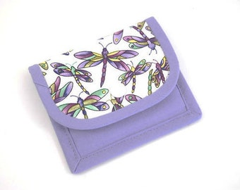 Gift Card Wallet, Mini Wallet, Gift Card Holder, Dragonfly Fabric Gift Card Wallet, Card Wallet, Fabric Mini Wallet, Fabric Gift Card Wallet