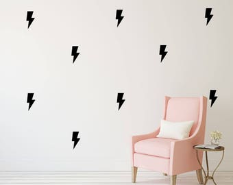 Lightning Bolt Wall Decal - Set of 50 - Wall Sticker - Nursery Kids Pattern | PP115