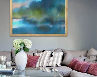 Abstract landscape painting, Abstract canvas art, Large wall art, Oversized painting, Horizontal wall art, Large canvas art, Huge wall art