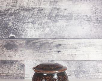 Vintage ceramic crock   pottery   ceramic vessel   kitchen utensil holder