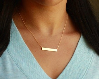 Personalized Bar Necklace   Layering Bar Necklace   Personalized Choker Necklace   Name Bar Initial Necklace   Gold Bar Necklace   Date Bar