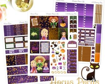 Hocus Pocus - Printable Planner Stickers - Instant Download