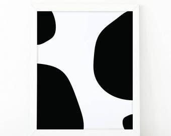 Circles minimalist print, minimalist wall art, nursery print, abstract print, kids room decor, printable art, Black and white, shooshprints