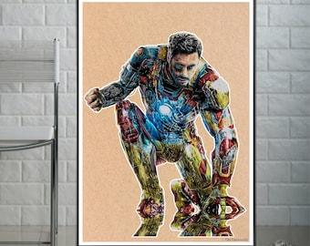 Iron Man - Fine Art Print - A4/A3