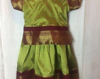 326. SOLD- VINTAGE- Children's Metallic Dress