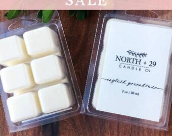 ENGLISH GREENHOUSE Wax Melt - Scented wax melts - Wax cubes - Candle melt - Scented wax cubes - Wax tart - Natural Wax Melts - Vendor Wax
