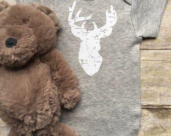 Baby Boy Onesie, Newborn Onesie,Baby Girl Onesie, Deer Onesie, Country Baby, Baby Shower Gift, Newborn Baby Clothes, Baby Boy Clothes