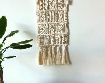 Macrame wall hanging decoration knots