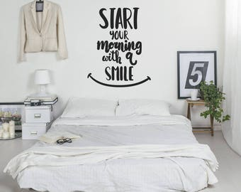 Wall Sticker Quote - Start Your Morning With A Smile