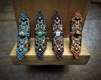Tribal macrame Dreadlocks, Handmade Dreadbead, ring, accessory for dreads, Boho hair jewelry, Unisex, Goa Bohemian Hippie, dread charm