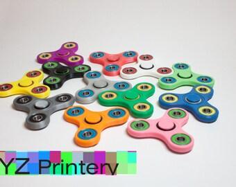 Custom Fidget Spinner - 3D printed EDC Hand Spinner - 12 Colors Ceramic Bearing option - desk toy stress relief