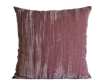 Rose pink velvet pillow-cover, 50x50 cm/ 19,7x19,7 inch, for decorative pillow