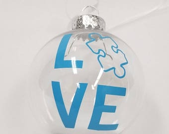 Love Puzzle Ornament (Autism)