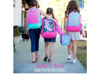 Girls Backpack, monogram backpack, personalized backpack for girls, personalized diaper bag backpack, monogrammed backpack, personalized bag
