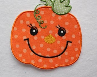 Pumpkin Patch, Halloween Pumpkin Patch, Pumpkin Applique, Embroidered Pumpkin, Iron On Patch, Halloween Appliqué, Cute Pumpkin Patch