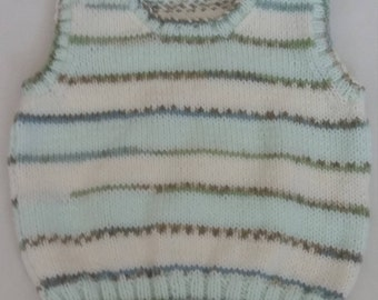 Hand knitted boys tank top