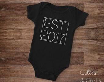 EST. baby tee // Pregancy Announcement tee