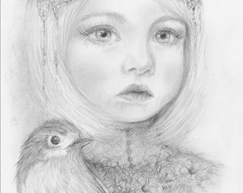 Robin art print - A5