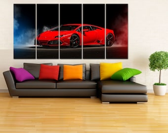 Lamborghini Canvas Print, Lamborghini Wall Art, Extra Large Lamborghini Poster, Garage Decor, Gift for Him, Lamborghini Wall Decor, LC066