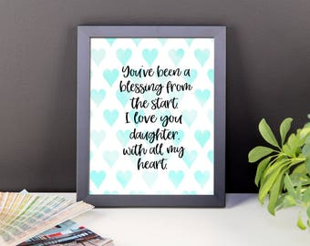 Framed print - gift for daughter - quote about daughter