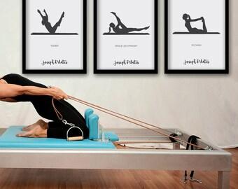 PILATES POSTER - Set 1 of 3 Pilates Poster - Pilates Art Print - Pilates Studio Decor - Pilates Inspiration - Pilates Wall Decor - Wall Art