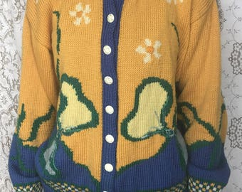 Hand Made Embellished Cardigan - So Kitsch!