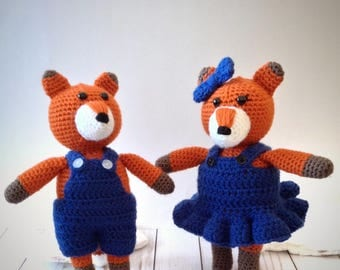 Felix & Fiona Fox (PATTERN ONLY)