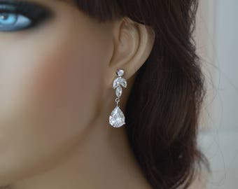 Earrings,BridalEarrings,Cubic zirconia earrings,Wedding  Earrings, Bridal jewelry,zirconia jewelry.