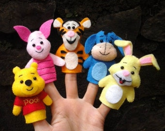 Winnie the pooh and friends finger puppets