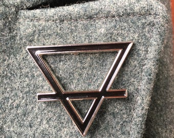 Earth or Air Symbol Enamel Pin