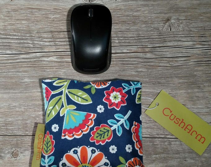 Floral CushArm Mini computer Wrist rest, perfect for a stand up desk